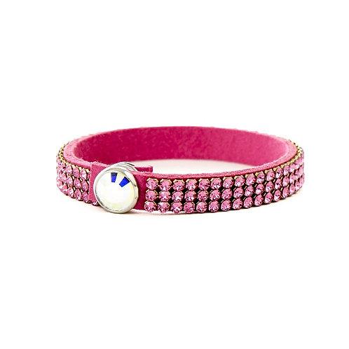Three Row Single Wrap Bracelet - Rose