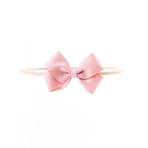 Small London Bow Soft Hairband - Peony