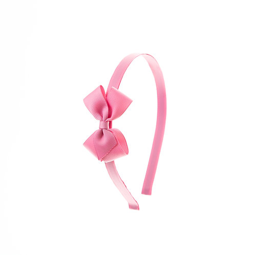Small London Bow Hairband - Wild Rose