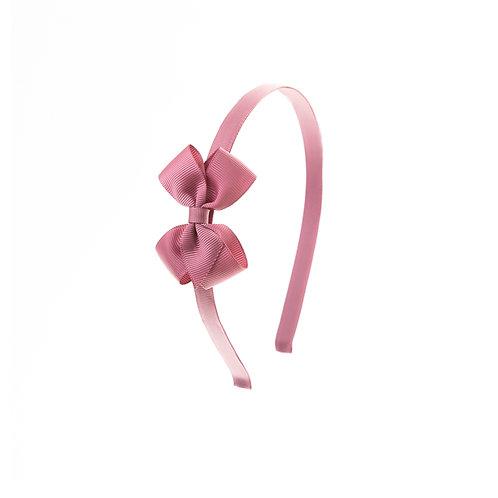 Small London Bow Headband - Rosy Mauve