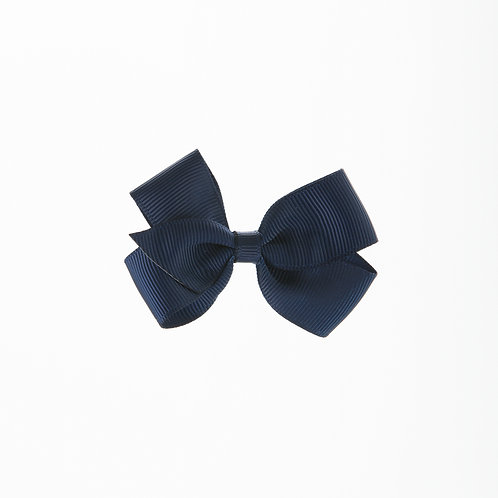 Small London Bow Hair Tie - Navy