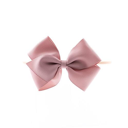 Medium London Bow Soft Hairband - Cameo