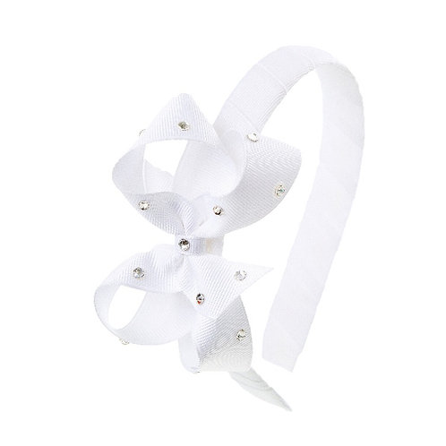 Bow Hairband - White