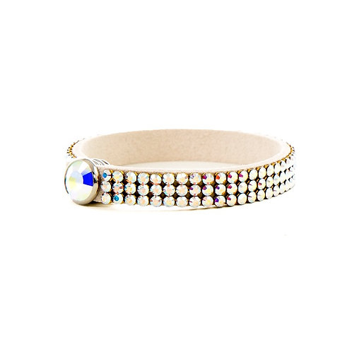 Three Row Single Wrap Bracelet - Crystal AB