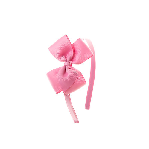 Medium London Bow Hairband - Wild Rose
