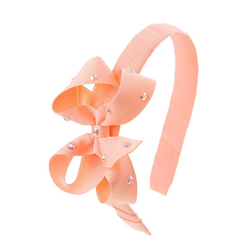 Bow Hairband - Light Coral