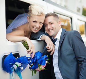 couple in love bride and groom posing at