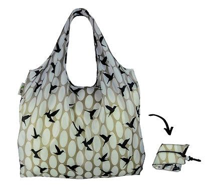 XL Lifestyle Shopper - Black & Grey Hummingbirds