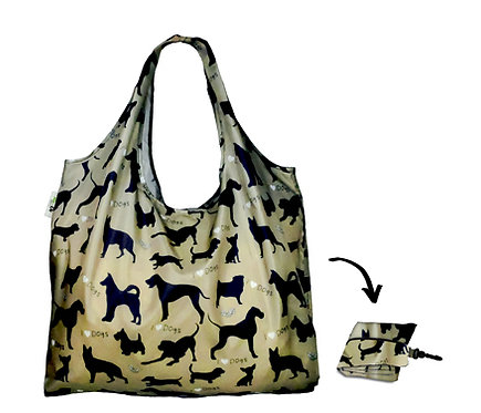 XL Lifestyle Shopper - I Love Dogs Sage