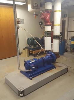 Hot Water Pump Installation
