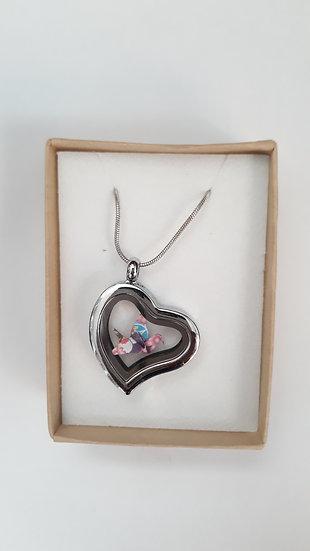 שרשרת לב עגור אוריגמי- דגם 12