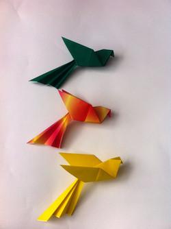 ציפורים מאוריגמי