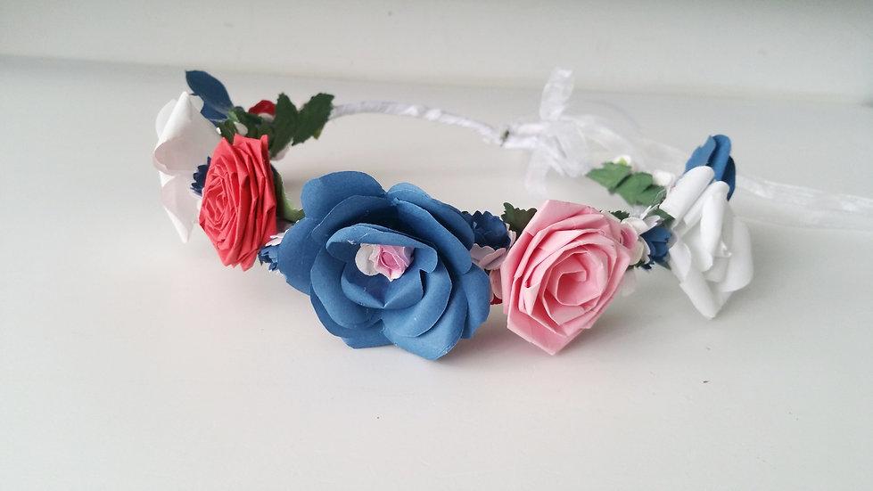 זר לראש- חגיגה של פרחים