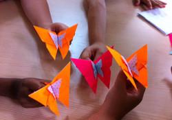 פרפרים מאוריגמי