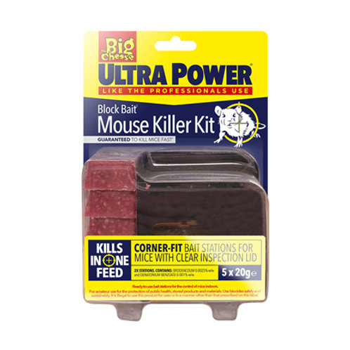 The Big Cheese Ultra Power Block Bait Mouse Killer Kit