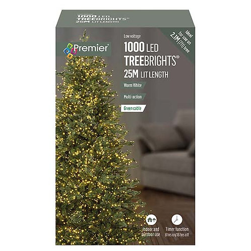 1000 LED TREEBRIGHTS 25M WHITE AND WARM WHITE