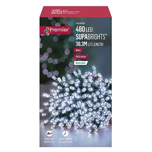480 MULTI-ACTION LED SUPABRIGHTS WITH TIMER - WHITE