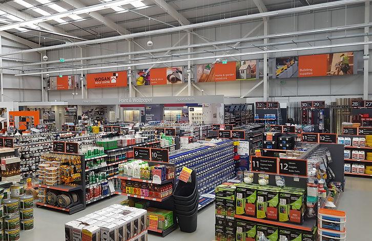 Wogan Build Centre Inside Shop