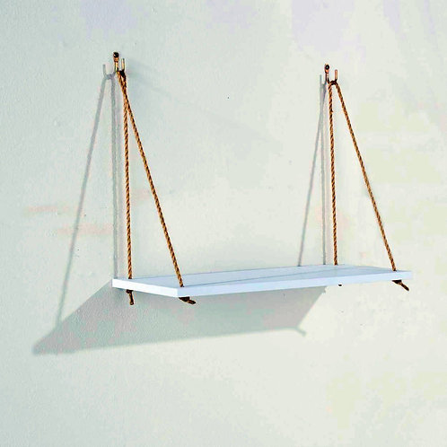 Thames Single Rope Shelf White