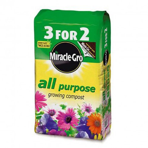 Miracle-Gro All Purpose Growing Compost- 50L 3 for 2