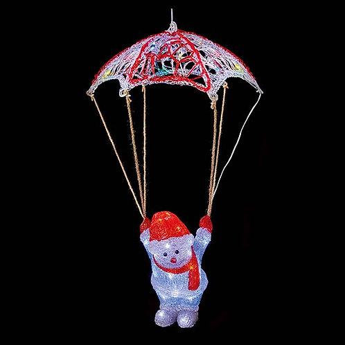LED ACRYLIC PARACHUTE SNOWMAN (70cm)