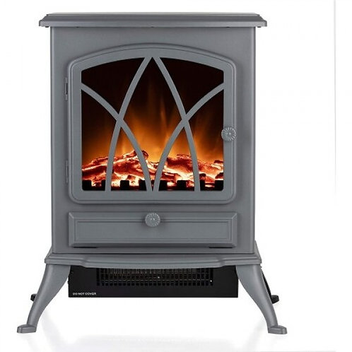 Warmlite Stirling Electric Stove Fire Grey 2kw
