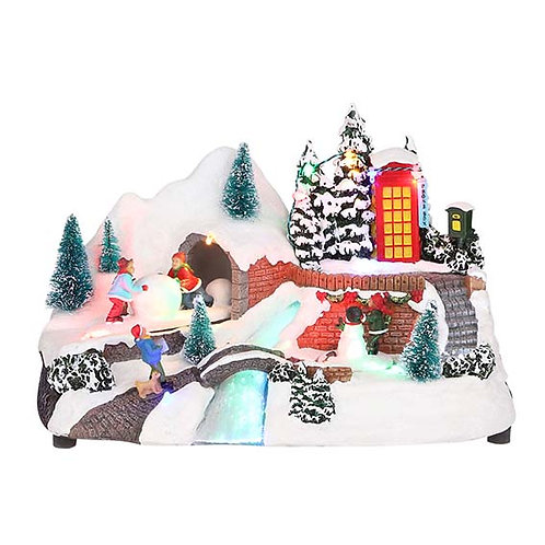 LED BATTERY OPERATED SNOWY VILLAGE SCENE - TYPE 1