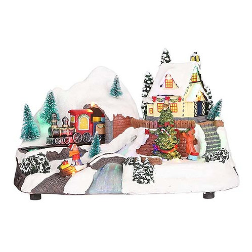 LED BATTERY OPERATED SNOWY VILLAGE SCENE - TYPE 2