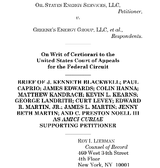 Amicus Brief Filed in Oil States Energy Services, LLC v. Greene's Energy Group, LLC