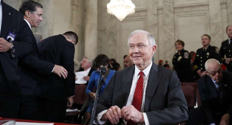 Attorney General-designate, Sen. Jeff Sessions, R-Ala. pauses during a break on Capitol Hill in Washington, Tuesday, Jan. 10, 2017, in his confirmation hearing before the Senate Judiciary Committee. (AP Photo/Alex Brandon)