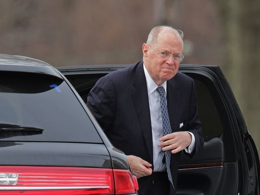 Supreme Court Justice Anthony Kennedy, here arriving for the funeral of Justice Antonin Scalia in 2016, will set off a brutal campaign over his successor if he retires this spring. (Photo: Chip Somodevilla, Getty Images)