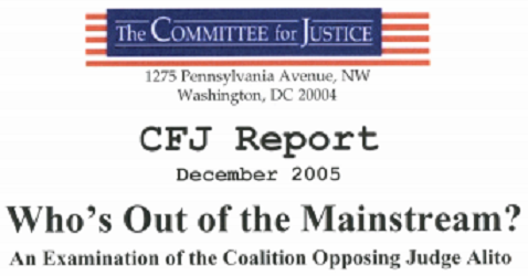 We conducted an examination of the coalition opposing Judge Alito.