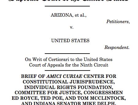 Amicus Brief Filed in Arizona v. United States