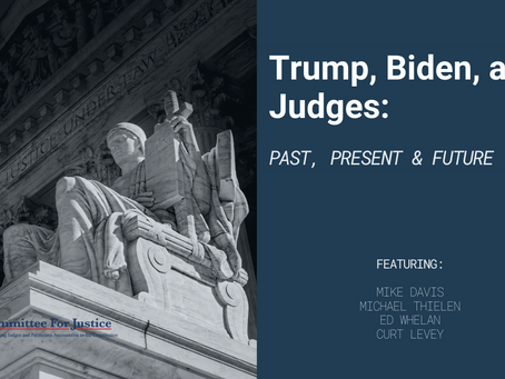 Trump, Biden, and Judges: Past, Present & Future [Event Video]