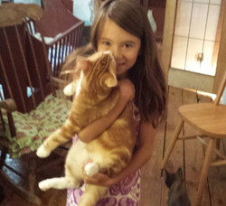 Lexy holding Alistair 08.2014