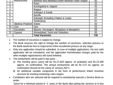 Saraswat Cooperative Bank Job 2021: Business Development Officer Posts