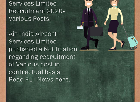Air India Airport Services Limited Recruitment 2020- Various Posts