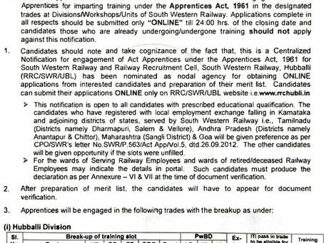 South Western Railway Recruitment 2020: Apprenticeship