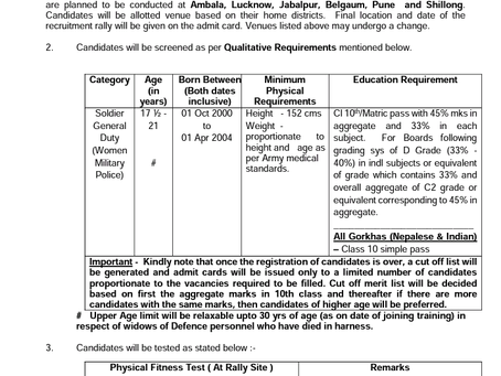 Indian Army Women Military Police Job 2021