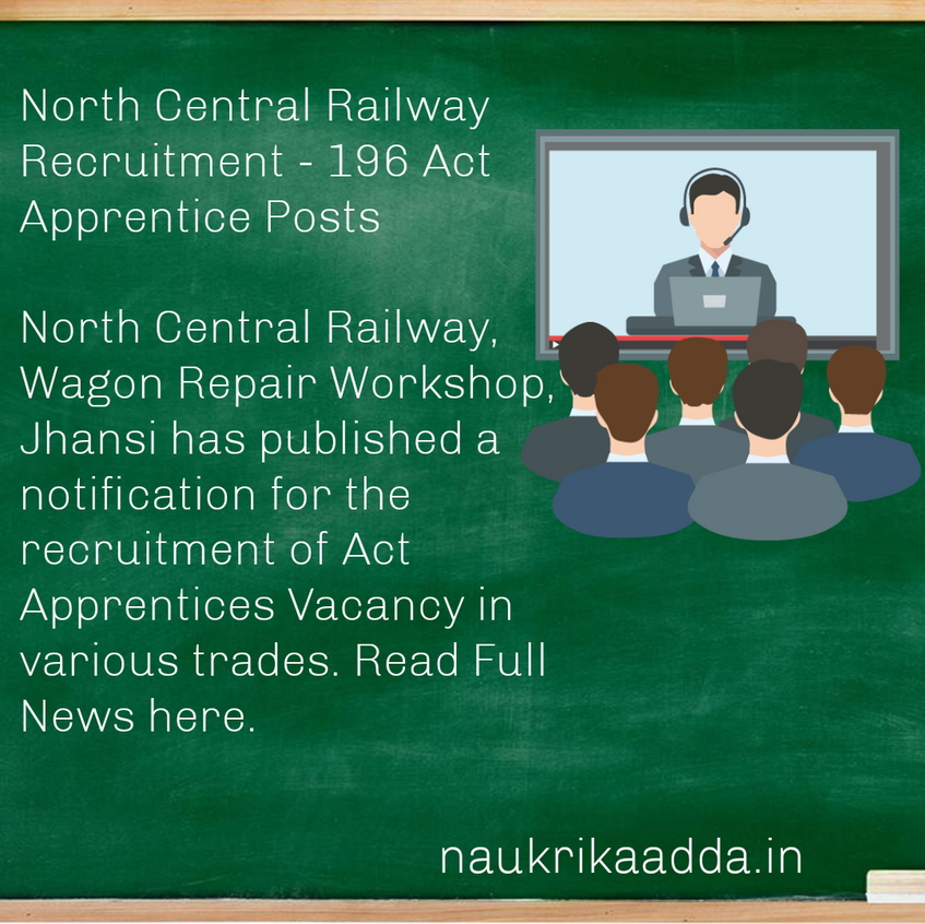 North Central Railway Recruitment - 196 Act Apprentice Posts
