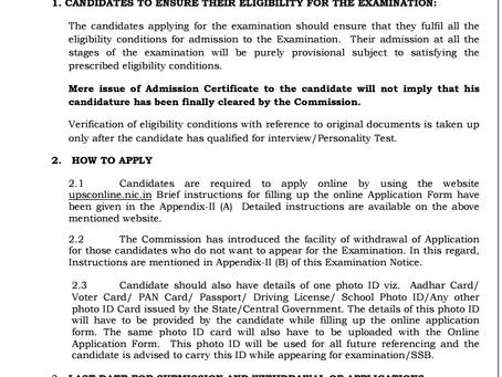 UPSC NDA II 2021 Notification Out: Apply Now