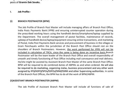 Bihar Postal Circle Recruitment 2021: 1940 Vacancies