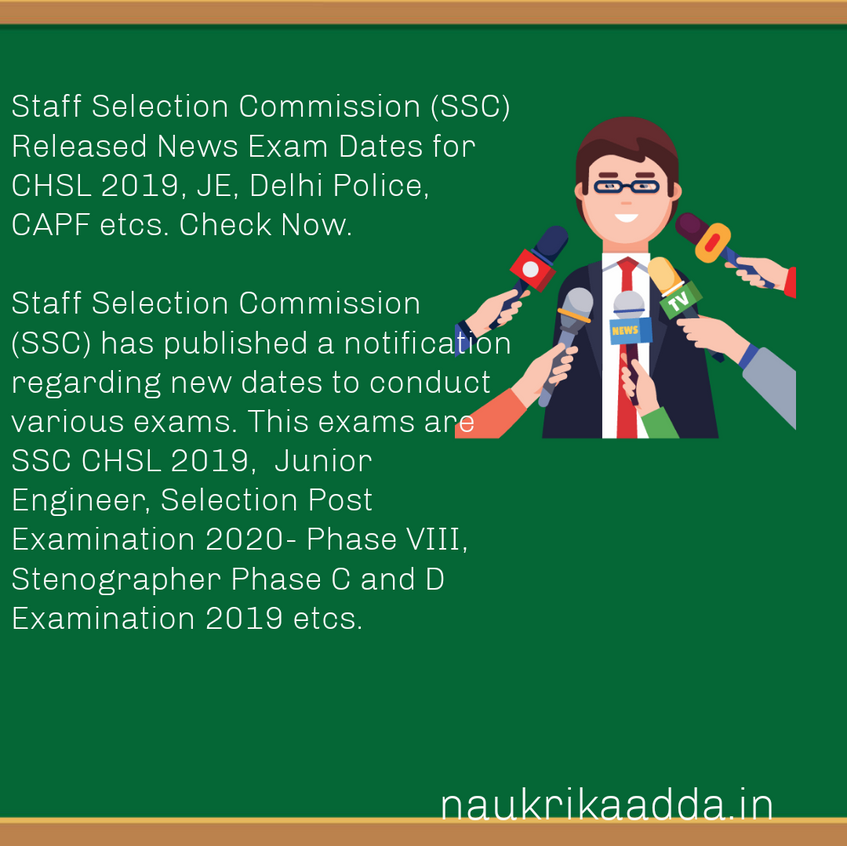 STAFF SELECTION COMMISSION NEW EXAM DATES