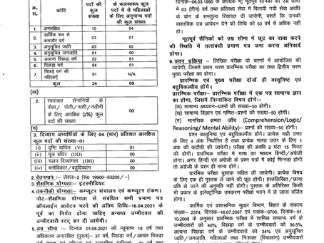 Bihar Lower Division Clerk (LDC) Job 2021