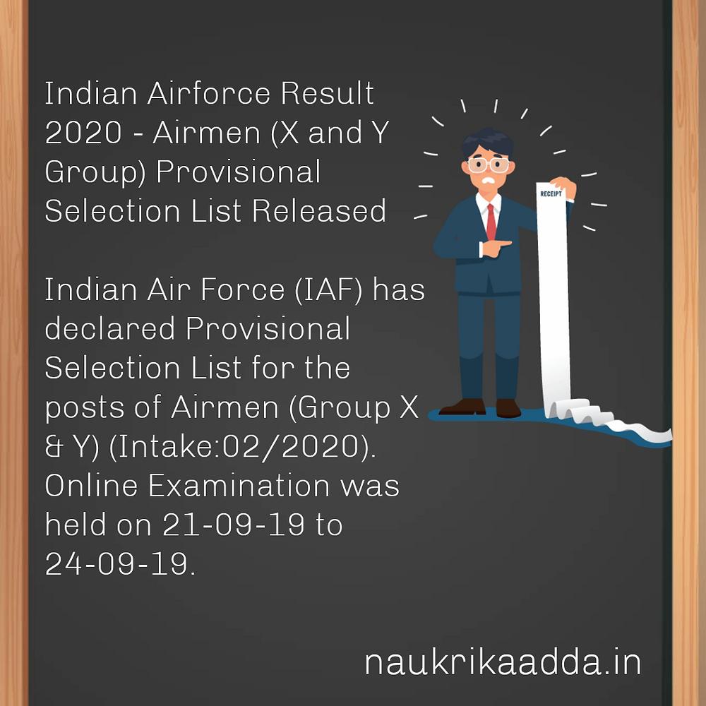 IAF Result 2020