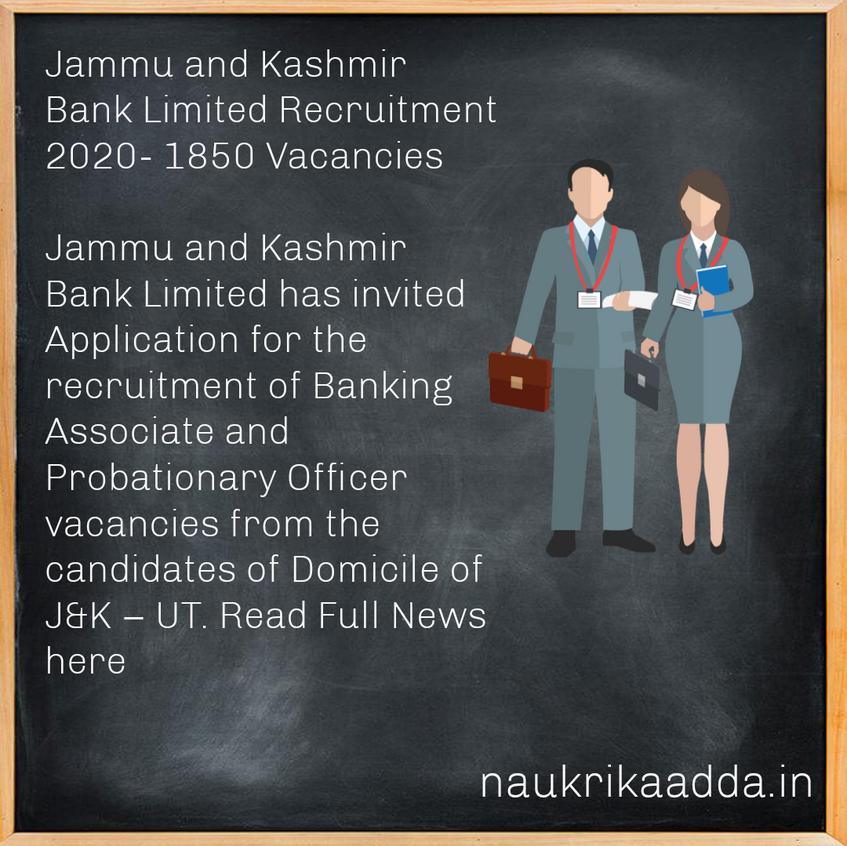 Jammu and Kashmir Bank Recruitment