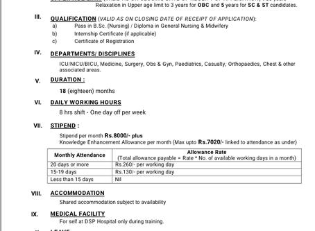 Proficiency Training of Nurses at Durgapore Steel Plant (DSP) Hospital, West Bengal