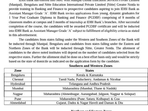 Industrial Development Bank of India (IDBI) Recruitment 2021: 650 Vacancies