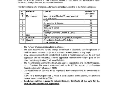 Saraswat Cooperative Bank Limited Recruitment 2021