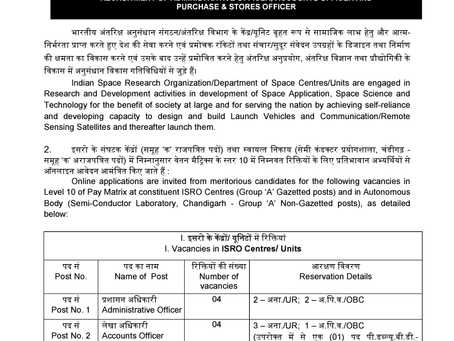 ISRO Recruitment 2021: 24 Vacancies